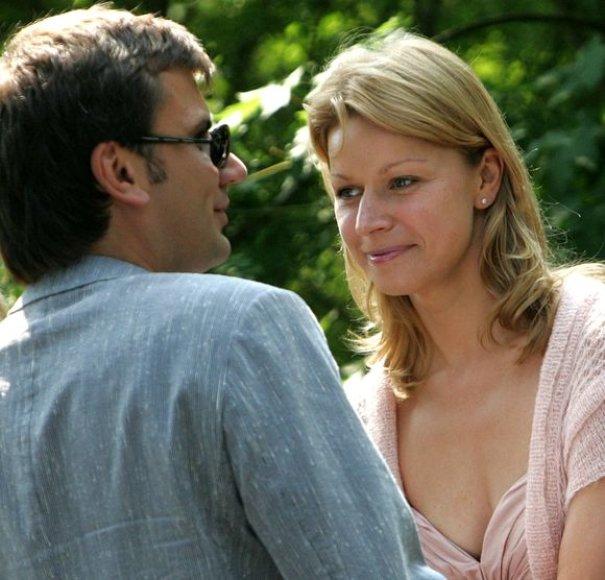 Aurelija Razmarataitė su vyru Darium