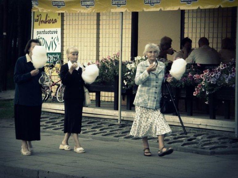 Senjorų laisvalaikis Šventojoje
