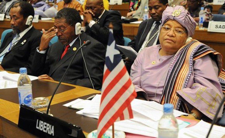 Liberijos prezidentė Ellen Johnson Sirleaf