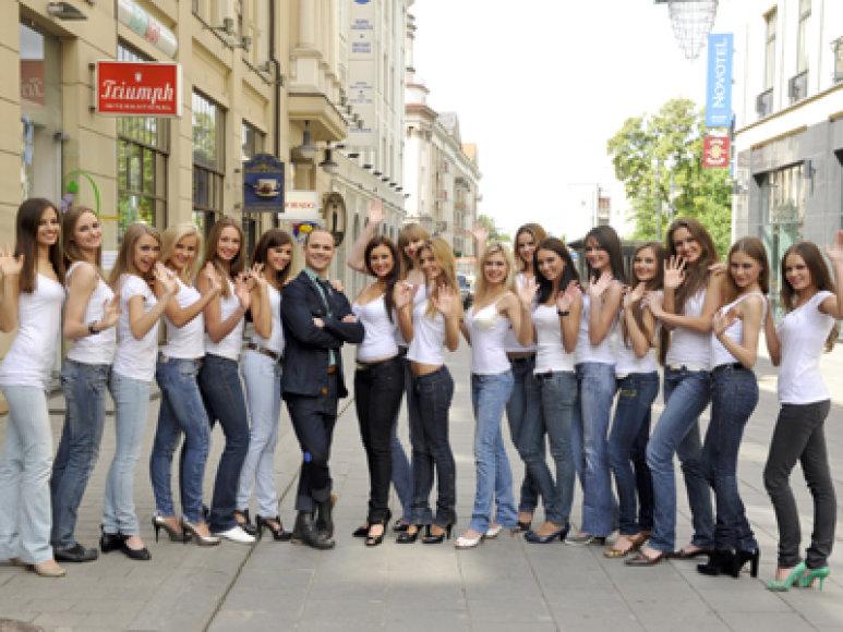 """Realybės šou """"Iššūkis – mis Lietuva"""" dalyvėms – Smorigino šokių pamoka."""