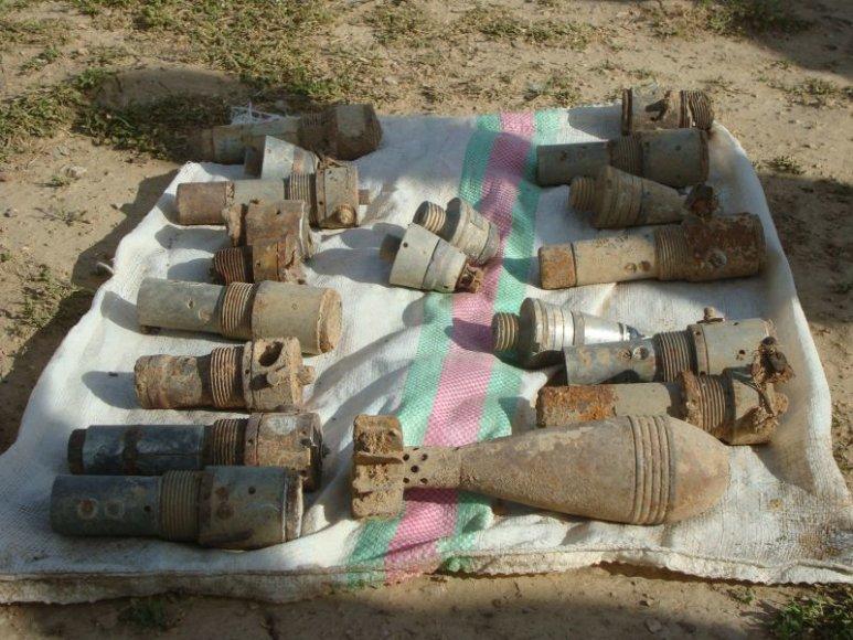 Lietuvos kariai Afganistane sunaikino sprogmenis.