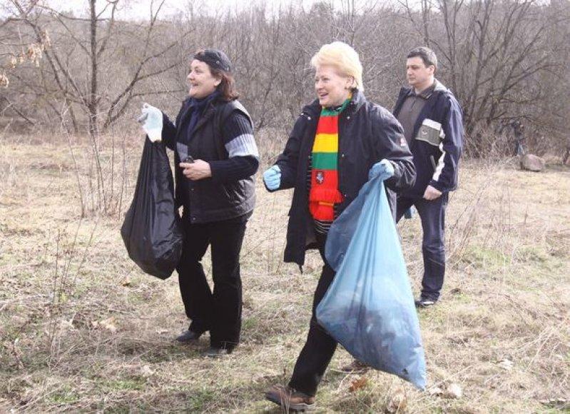 """Akcijoje """"Darom 2011"""" dalyvauja ir prezidentė Dalia Grybauskaitė."""