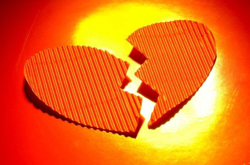 Sudaužyta širdis žudo vyrus.