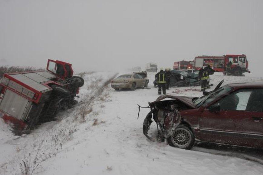 Tragiška avarija prie Panevėžio.