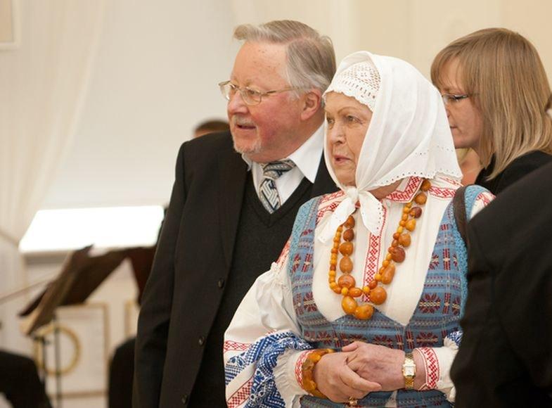 Vytautas Landsbergis ir žmona Gražina Ručytė-Landsbergienė