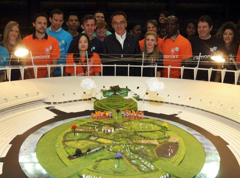 Londono olimpinio stadiono maketas
