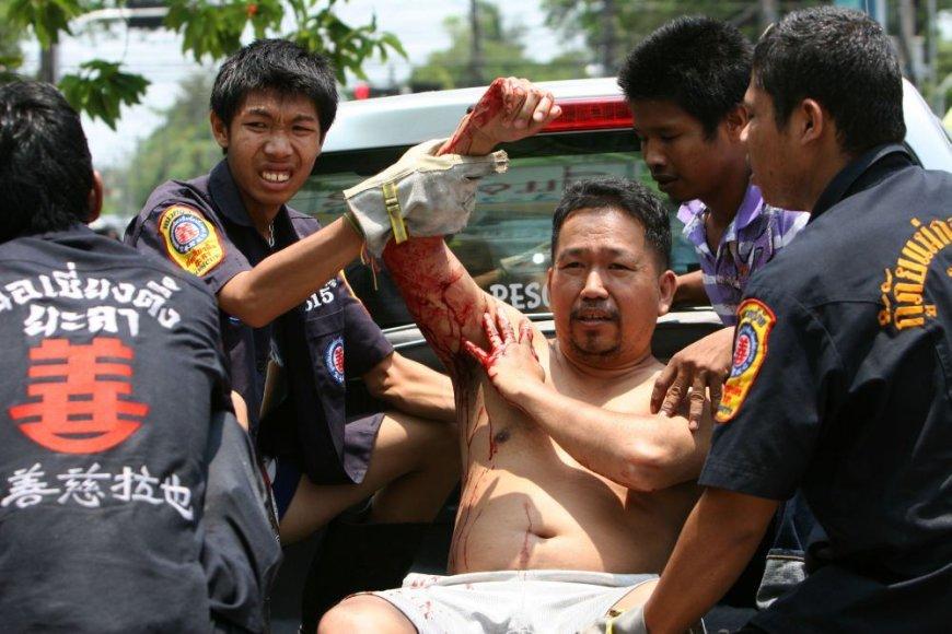 Trigubas sprogimas Tailande pasėjo siaubą