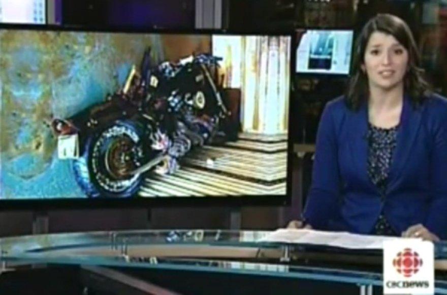 Cunamio nuneštas motociklas