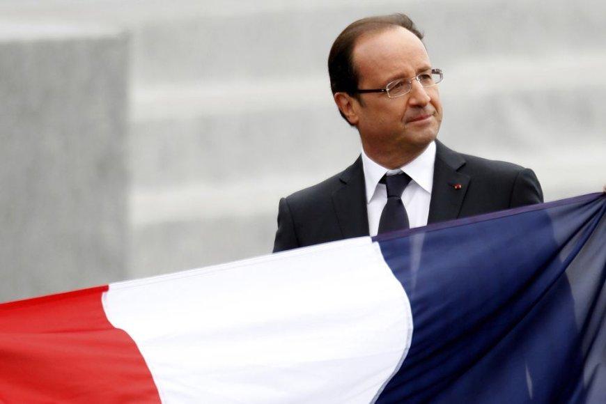 Prancūzijos prezidentas F.Hollande'as Bastilijos dienos iškilmėse