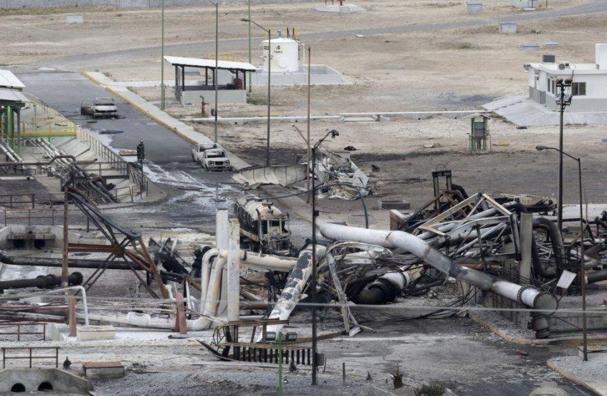 """Avarija Meksikos """"Pemex"""" kompanijos dujų paskirstymo stotyje"""