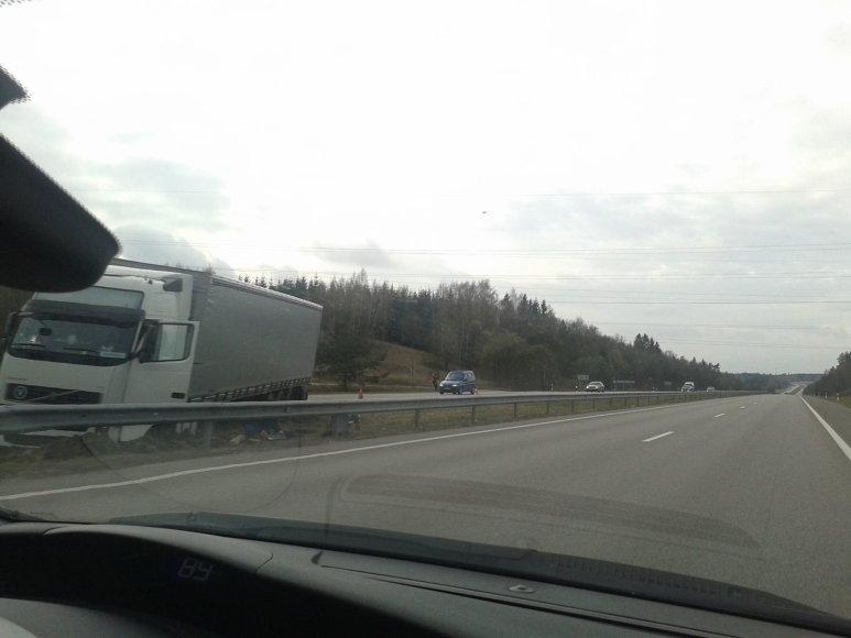 Vilkiko avarija automagistralėje Ukmergė-Vilnius