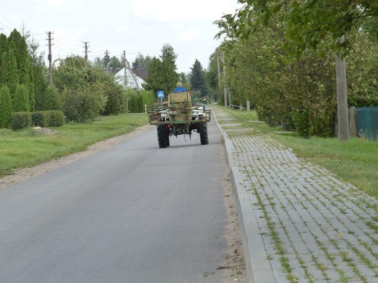 Susiaurėjusi Suvalkijos gatvė kelia pavojų eismo saugumui