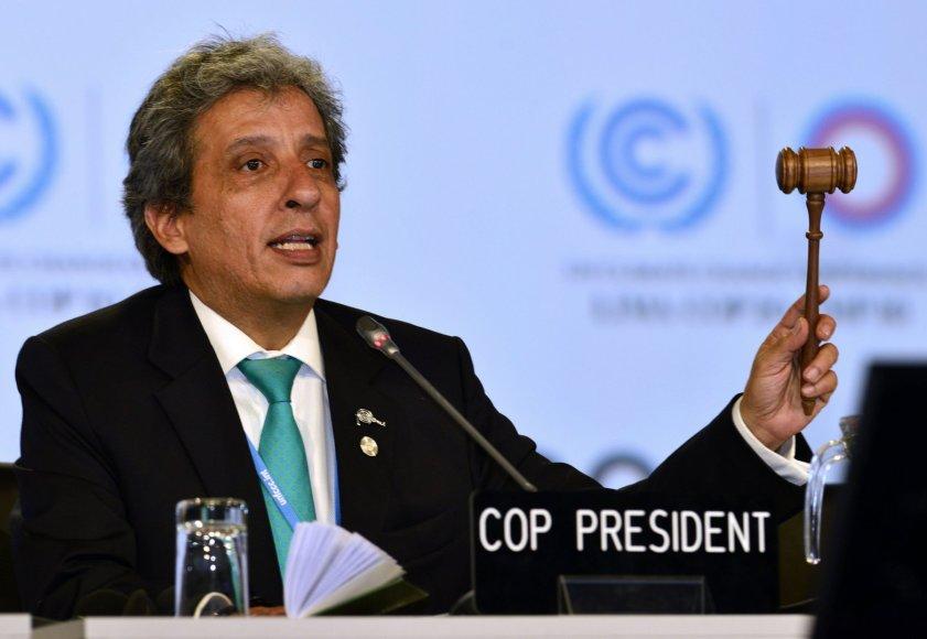 Peru aplinkos ministras Manuelis Pulgaras-Vidalas