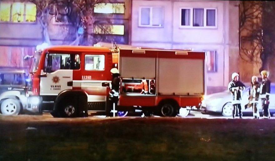 TV 3 stopkadras: gaisras Žirmūnuose