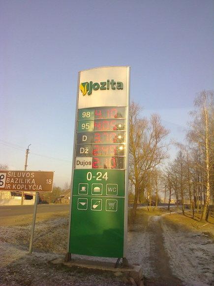 Degalų kaina Raseiniuose