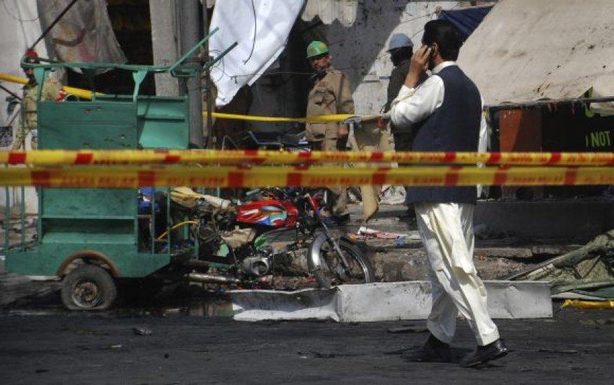 Sprogimo Lahore padariniai