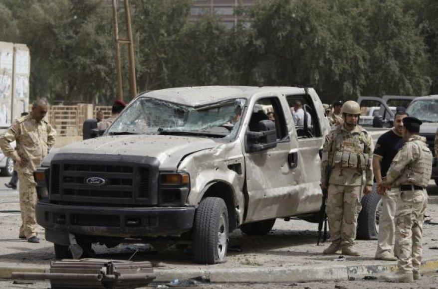 Sprogimas prie Irano ambasados Bagdade