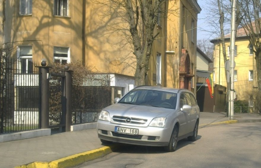 Draudžiama zona Vaižganto gatvėje Kaune