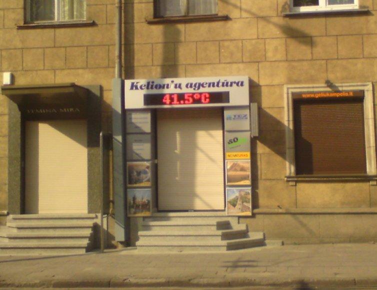Termometro parodymai Vilniuje