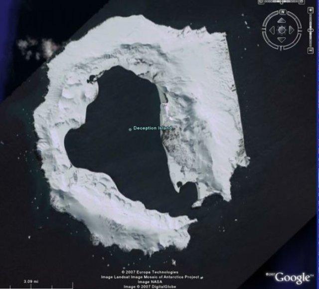Sala Deception iš kosmoso