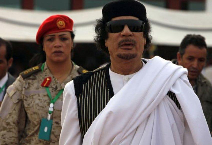 Muamarą Kadhafi lydėdavo asmens sargybinės moterys