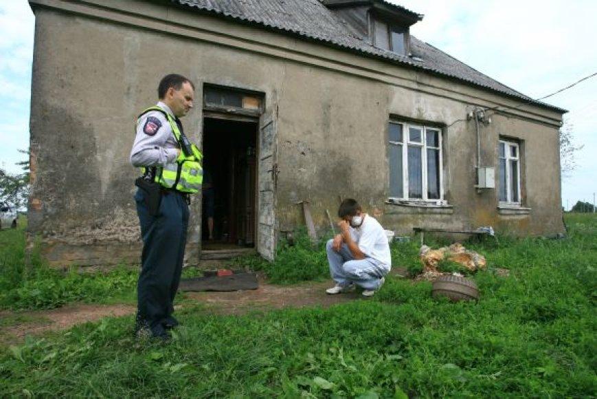 Dviguba žmogžudystė Tauragės rajone: policija apklausė liudininką