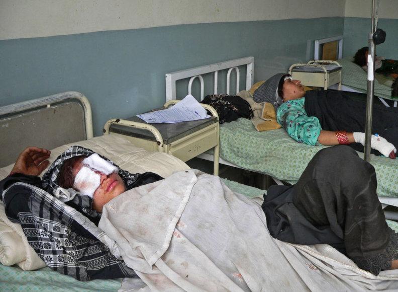 Sužeistos afganistanietės ligoninėje