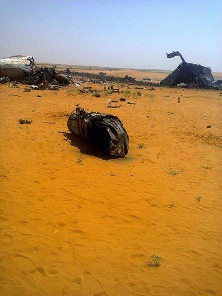 Sudane sudužusio lėktuvo nuolaužos