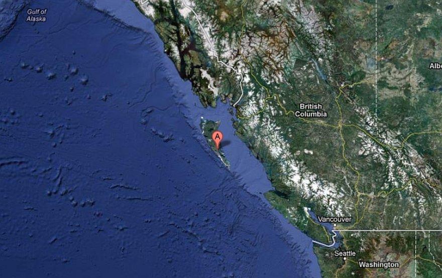 Žemės drebėjimo epicentras užfiksuotas prie vakarinės Kanados pakrantės.