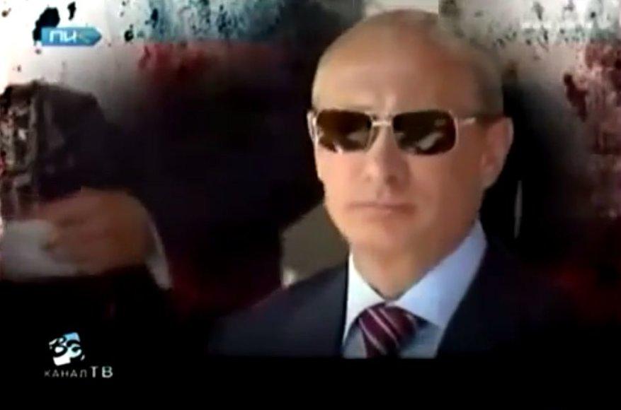 Vietoje įprastų žinių iš televizijos ekrano pasipylė negailestinga kritika Vladimiro Putino režimui.