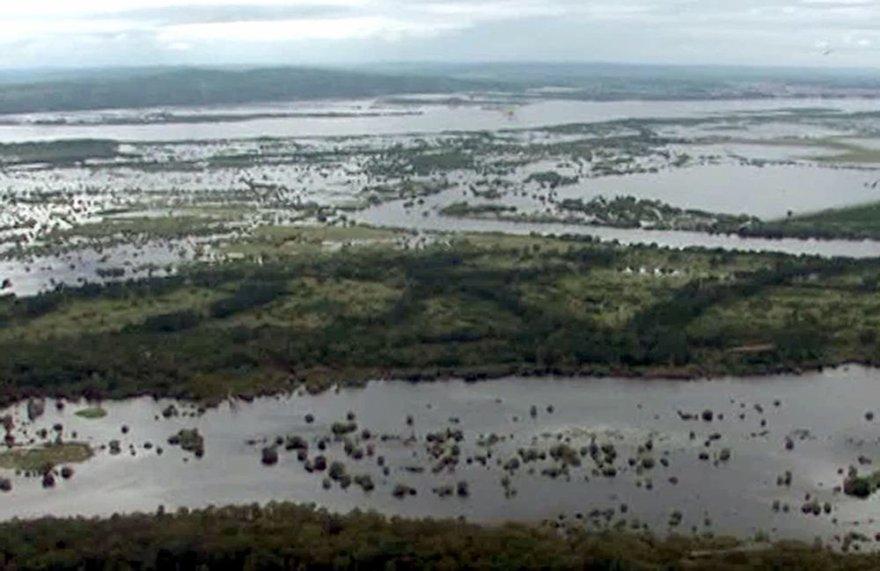 Rusijos Tolimuosius Rytus siaubia rekordinis potvynis.