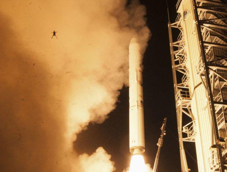 """Greta """"Minotaur V"""" raketos savarankiškai startavo varlė."""