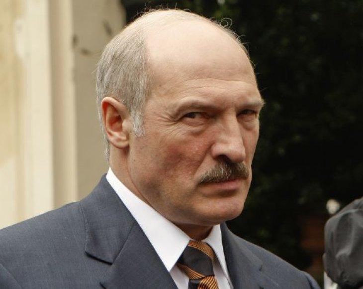 Aleksandas Lukašenka moka būti rūstus.