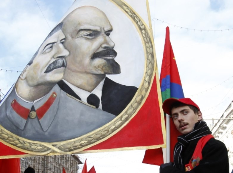 Komunistų eisena Maskvos gatvėmis