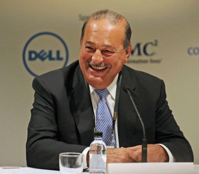 Pirmoji vieta – Carlosas Slimas (Meksika) – 74 mlrd. dolerių