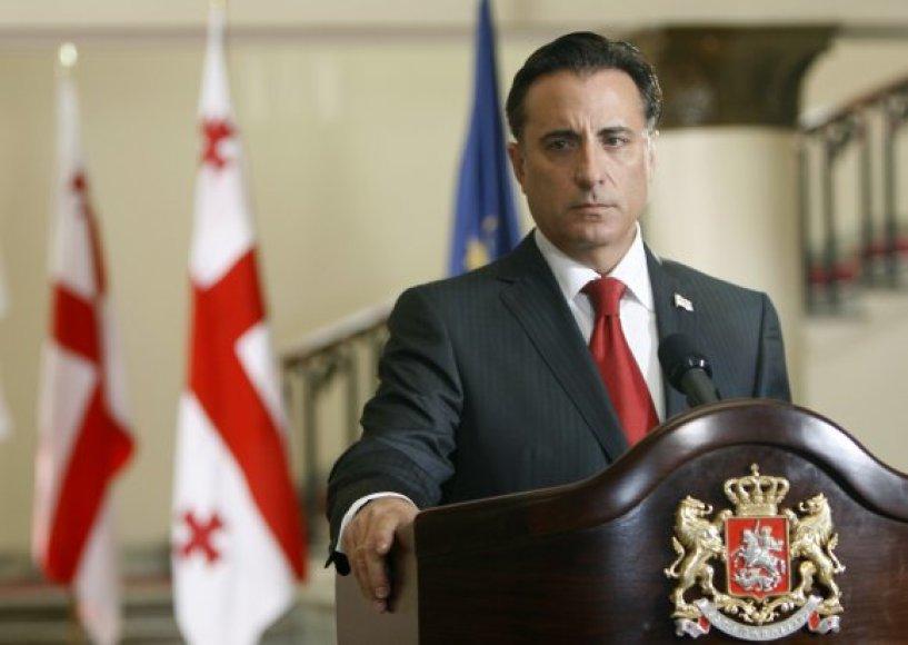 Andy Garcia Gruzijos prezidento Michailo Saakašvilio vaidmenyje