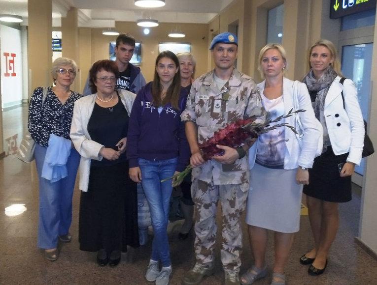 Į Lietuvą grįžęs mjr. Andrius Smilga