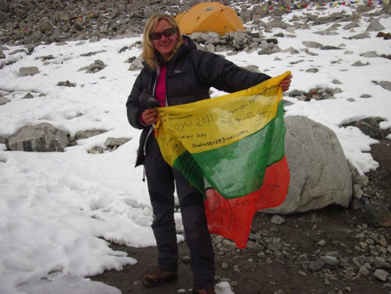 Nusileidus nuo Cho Oyu (8201 m)