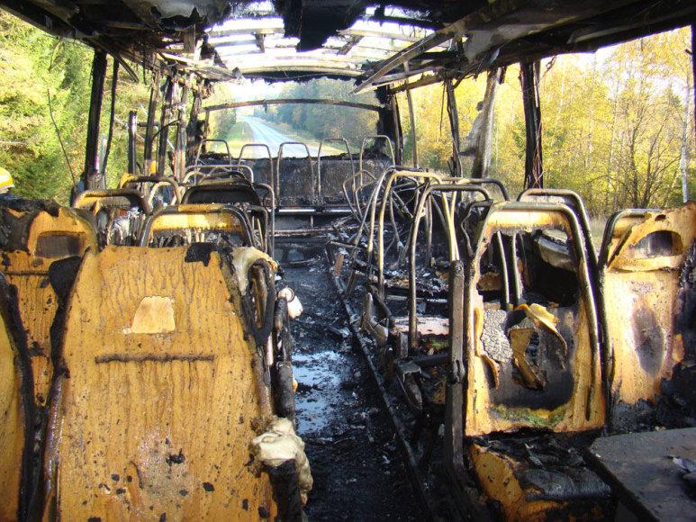Sudegęs autobusas