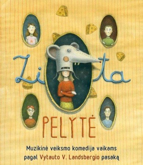 """Spektaklio """"Zita – pelytė"""" plakatas"""