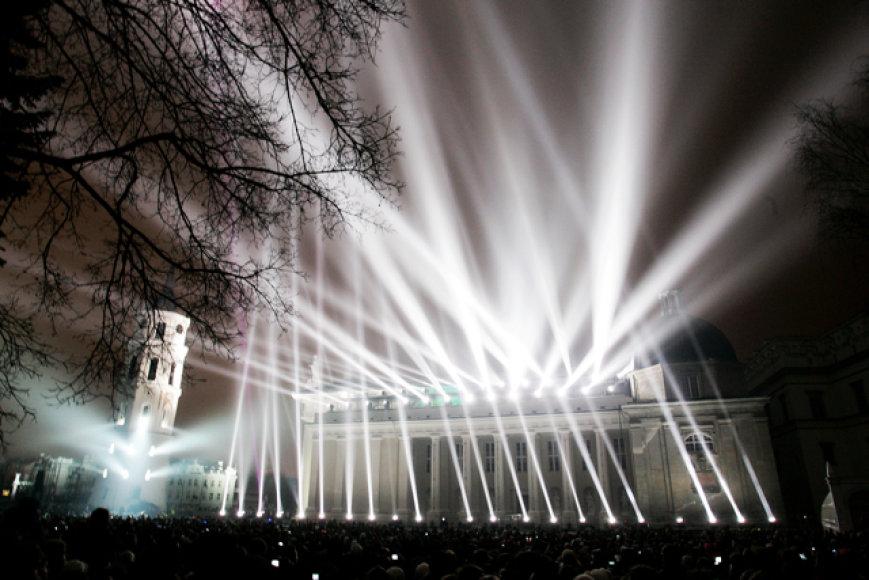 VEKS atidarymo akimirka – G.Hofo šviesų ir muzikos šou