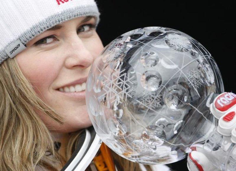 L.Vonn antrus metus laimėjo pasaulio taurę.