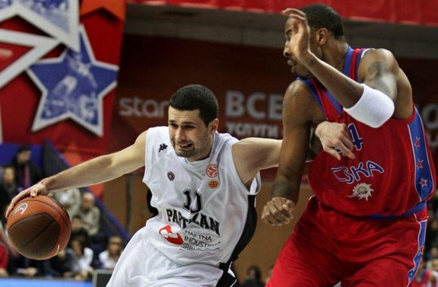 Begrado komandai antroje dvikovoje CSKA užkūrė tikrą pirtį.