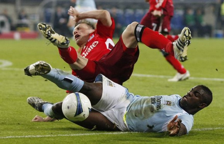 """Arabų remiama """"Manchester City"""" klubui nepavyko rimčiau įkąsti vokiečių komandai."""