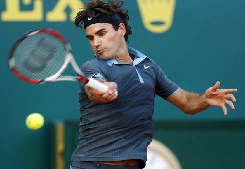 R.Federeris buvo priverstas pripažinti tėvynainio S.Wawrinkos pranašumą.