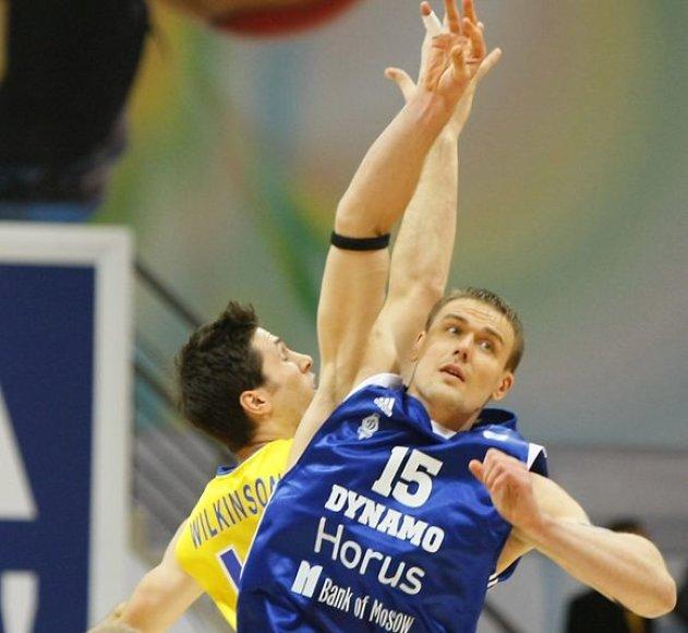 """Traumą gavusio R.Javtoko labai trūko """"Dinamo"""" komandai."""