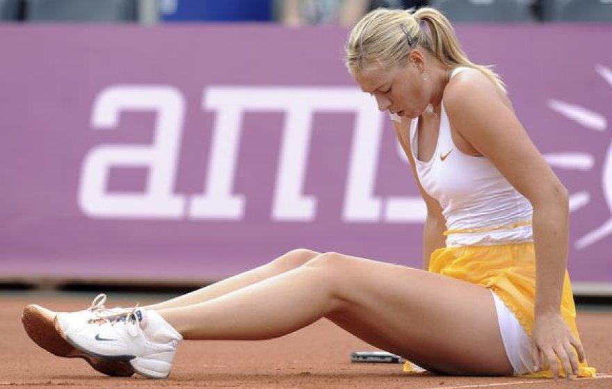 M.Šarapovai Varšuvoje nepavyko prasibrauti į pusfinalį