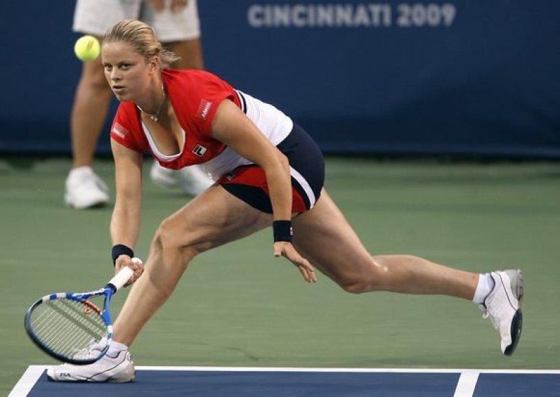 Kim Clijsters iškvojo pirmą pergalę grįžusi po motinystės atostogų