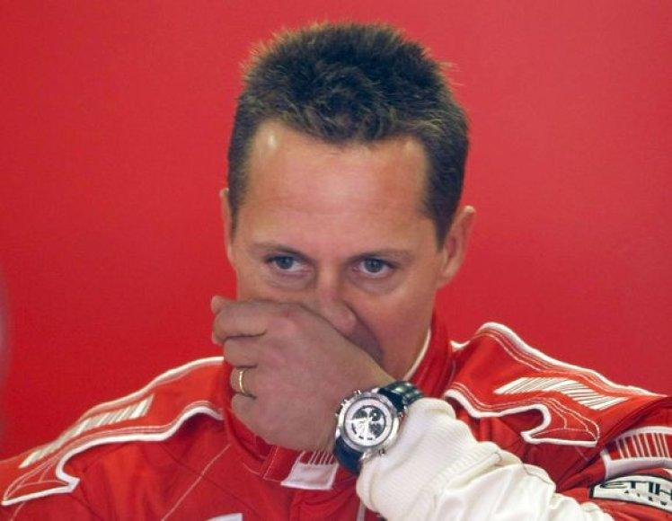 M.Schumacherio sugrįžimas į didįjį sportą žlugo