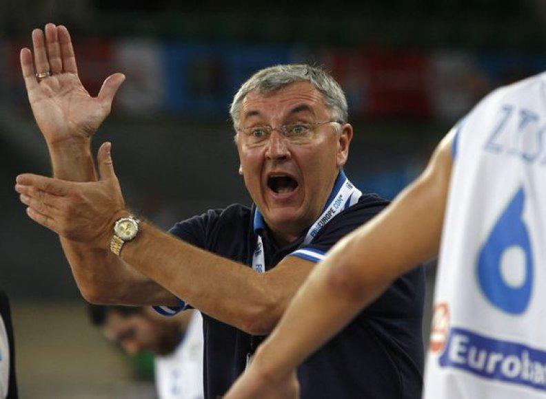 J.Kazlauskas per šešias rungtynes tik pora kėlinių buvo nepatenkintas savo žaidėjais.